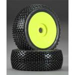 Crime Fighter (M3) Tires Pre Mounted Velocity Yellows Wheels (2-pack)