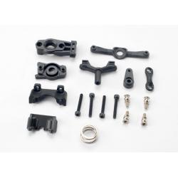 Steering arm (upper & lower)/ steering link/ servo horn/ servo saver/ servo saver spring/ servo horn mount/ ball stud (2)/ shock mounts, front & rear/ 2.5x18mm CS (4)