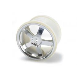"Wheels, Hurricane 3.8"" (chrome) (2) (also fits Maxx series)"