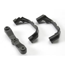 Mount, steering arm/ steering stops (2) (lower hinge pin retainer) (includes standard and maximum throw steering stops)