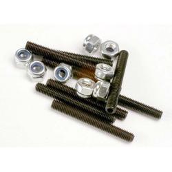 Set (grub) screws, 3x25mm (8)/ 3mm nylon locknuts (8)