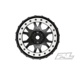 Impulse Pro-Loc Black Wheels with Stone Gray Rings for X-MAXX Front or Rear