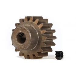 Gear, 18-T pinion (1.0 metric pitch) (fits 5mm shaft)/ set screw (compatible with steel spur gears)