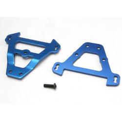 Bulkhead tie bars, front & rear (blue-anodized aluminum)