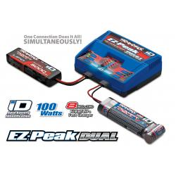 Charger, EZ-Peak Dual, Optimized For Traxxas Lipo (3s/2s) & Traxxas NiMH Battery Packs