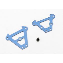 Bulkhead tie bars, front & rear (blue-anodized aluminum)/ 2.5x6 CS (1)