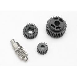 Gear set, transmission (includes 18T, 25T input gears, 13T idler gear (steel), 35T output gear, M3x13.75 screw pin)