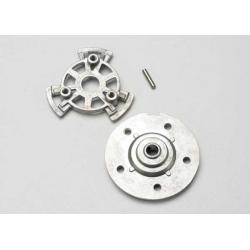 Slipper pressure plate and hub