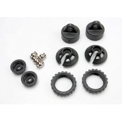 Caps and spring retainers, GTR shock (upper cap (2)/ hollow balls (2)/ bottom cap (2)/ upper retainer (2)/ lower retainer (2))