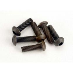 Screws, 3x10mm button-head machine (hex drive) (6)