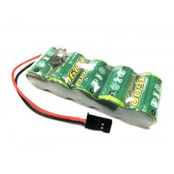 NiMH RX Flat Receiver Batteries 1600 mAh. 6V