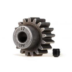 Gear, 17-T pinion (1.0 metric pitch) (fits 5mm shaft)/ set screw (compatible with steel spur gears)