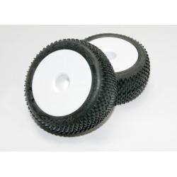 "Tires & wheels, assembled, glued (white dished 2.2"" wheels, Response Pro 2.2"" tires, foam inserts) (2)"