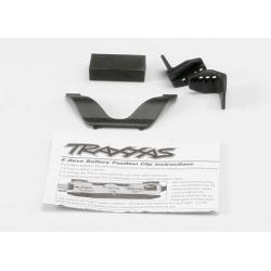 Retainer clip, battery (1)/ front clip (1) /rear clip (1)/ foam spacer (1) (for one battery compartment)