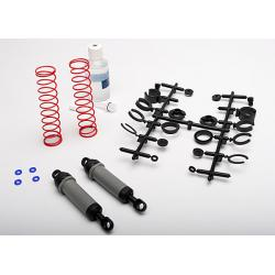 Ultra Shocks (grey) (xx-long) (complete w/ spring pre-load spacers & springs) (rear) (2)