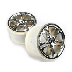 "Wheels, SS (split spoke) 3.8"" (chrome) (2) (fits Revo/Maxx series)"