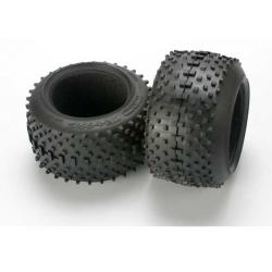 """Tires, SportTraxx racing 3.8"""" (soft compound, directional and asymmetrical tread design)/ foam inserts (2)"""