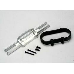 Bumper, rear/ bumper mount, rear/ 4x10mm BCS (2)/ 3x25mm BCS (2)