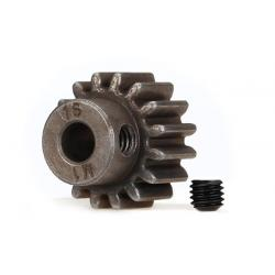 Gear, 16-T pinion (1.0 metric pitch) (fits 5mm shaft)/ set screw (compatible with steel spur gears)