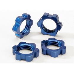 Wheel nuts, splined, 17mm (blue-anodized) (4)