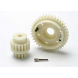 Gear set, 2-speed wide ratio (2nd speed gear 38T, 13T-18T input gears, hardware)