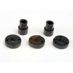 Piston head set (2-hole (2)/ 3-hole (2))/ shock mounting bushings & washers (2) (Big Bore Shocks)