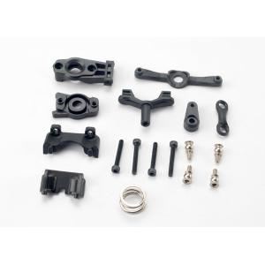 Steering arm (upper & lower)/ steering link/ servo horn/ servo saver/ servo saver spring/ servo horn mount/ ball stud (2)/ shock mounts, front & rear/ 2.5x18mm CS (4)