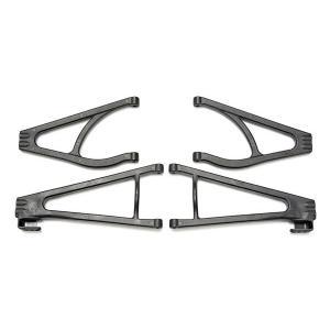 Suspension arm set, adjustable wheelbase (lengthens wheelbase 10mm or 19mm) (suspension arm upper (2)/ suspension arm lower (2)/ bumper mount spacers (2)/ 4x16BCS (2))