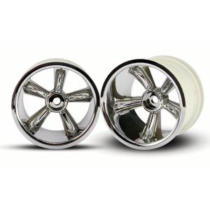"TRX Pro-Star chrome wheels (2) (rear) (for 2.2"" tires)"