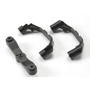 Mount, steering arm/ steering stops (2) (lower hinge pin retainer) (includes standard and maximum throw steering stops)