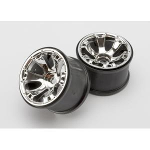 "Wheels, Geode 3.8"" (chrome) (2) (use with 17mm splined wheel hubs & nuts, part #5353X & beadlock-style sidewall protectors, part #5665, 5666, 5667)"