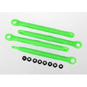 Toe link, front & rear, green (molded composite) (green) (4)/ hollow balls (8)