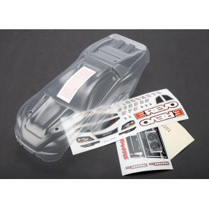 Body, 1/16 E-Revo (clear, requires painting)/ grill and lights decal sheet