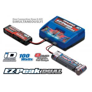 Charger, EZ-Peak Dual, Optimized For Traxxas Lipo (3s/2s) & Traxxas NiMH Battery Packs