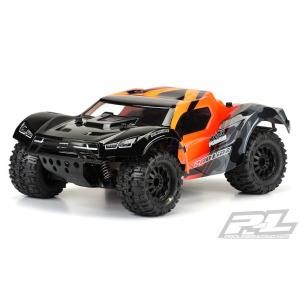 "Pre-Cut Monster Fusion Clear Body for Slash 2wd & Slash 4x4 with 2.8"" MT Tires"