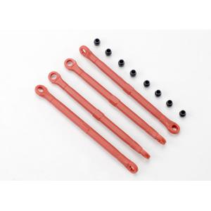 Toe link, front & rear (molded composite) (red) (4)/ hollow balls (8)