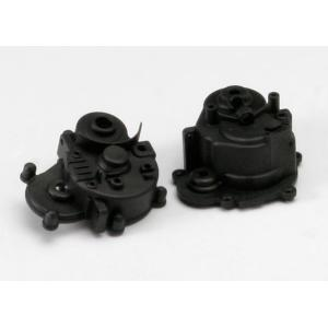 Gearbox halves (front & rear)/ rubber access plug/ shift detent ball/ spring/ 4mm GS/ shift shaft seal, glued