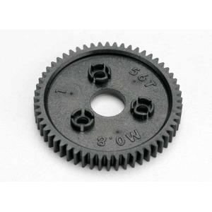 Spur gear, 56-tooth (0.8 metric pitch, compatible with 32-pitch)
