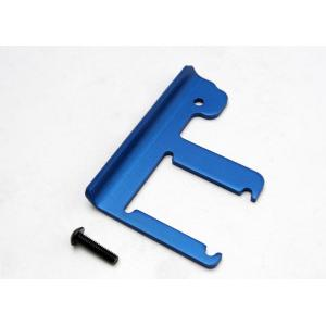 Chassis brace, Revo (3mm 6061-T6 aluminum) (blue-anodized)/ 4x16mm BCS