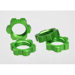 Wheel nuts, splined, 17mm (green-anodized) (4)