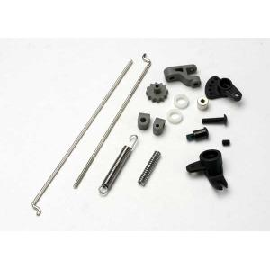 Linkage set, throttle & brake, Revo-Slayer (includes servo horns, rod guides, brake spring, brake adjustment dial, brake lever, rods (wires), bellcrank, throttle return spring, hardware)