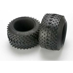 "Tires, SportTraxx racing 3.8"" (soft compound, directional and asymmetrical tread design)/ foam inserts (2)"