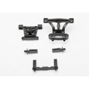 Body mounts, front & rear/ body mount posts, front & rear
