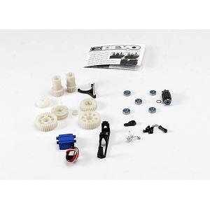Two speed conversion kit (E-Revo) (includes wide and close ratio first gear sets, sub-micro servo, and linkage) (Requires 3 channel transmitter)