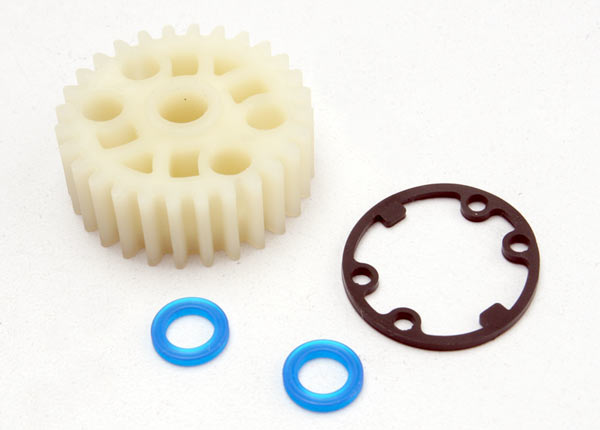 Gear, center differential (Revo)/ X-ring seals (2)/ gasket (1) (Replacement gear for 5414)