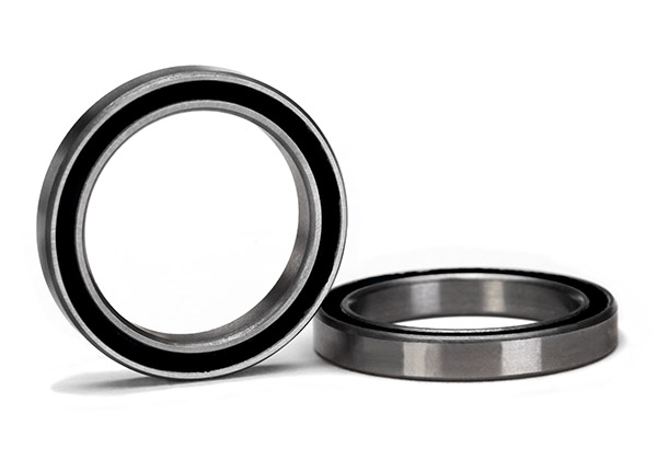 Ball bearing, black rubber sealed (20x27x4mm) (2)