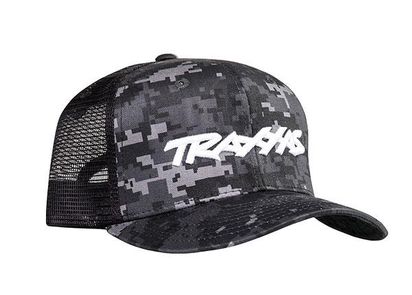Traxxas Logo Hat Curve Bill Black Digital Camouflage Osfa