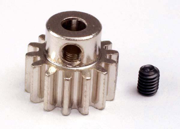 Gear, 14-T pinion (32-p) (mach. steel)/ set screw