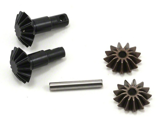 Gear set, differential (output gears (2)/ spider gears (2)/ spider gear shaft)