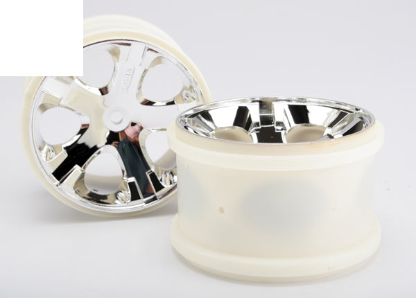 "Wheels, All-Star 2.8"" (chrome) (electric rear)"